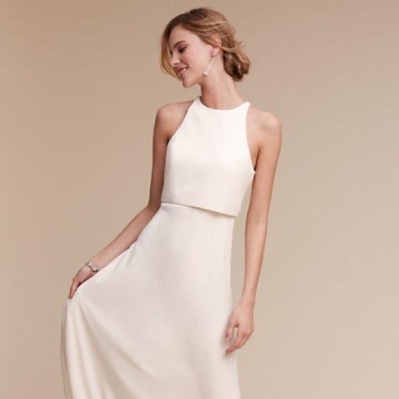 Jill Stuart Dresses | Bhldn Jill Crepe Wedding Dress 2 New | Poshmark